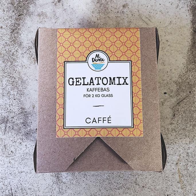 Glass kaffe mix gör egen gelato hemma