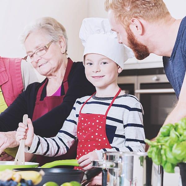 Kurs familjematlagning i 2 timmar som är extra barnvänlig aktivitet i stockholm