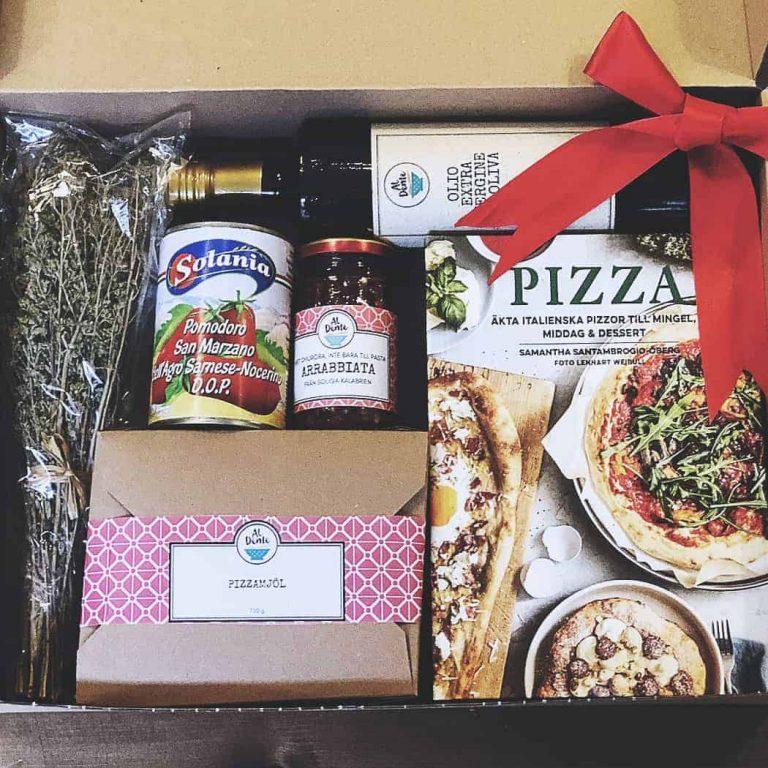 pizzalåda med allt för äkta italiensk pizza