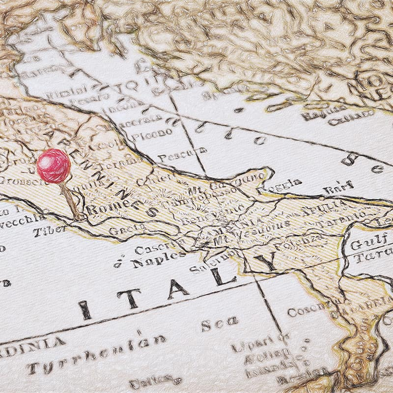 Rom i italien på karta en reseguide om italiens huvudstad